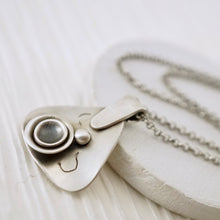 Load image into Gallery viewer, Unique, artisan designed, handmade sterling silver triangular necklace | Nesting Bowls collection