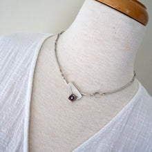 Load image into Gallery viewer, Unique, artisan designed, handmade sterling silver and copper, offset necklace | Square Pods collection