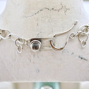 Unique, artisan designed, handmade sterling silver trio pendant necklace | Nesting Bowls collection