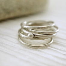Load image into Gallery viewer, Unique, artisan designed, handmade sterling silver, stackable ring | Layers and Stackables collection