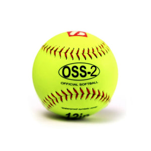 OSS-2 balle de softball initiation 12'', jaune, 1 douzaine