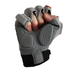 FLGC-02 gants de football américain de linemen fit court, Gris