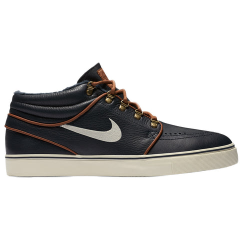 Stefan Janoski Mid Dark obsidian/ Light British Tan/Birch - Stoked Boardshop  - 1