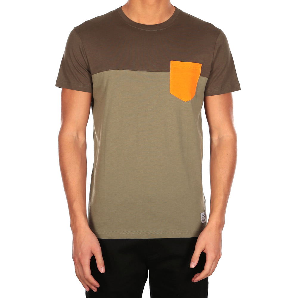 Block Pocket 2 Tee Olivegrey