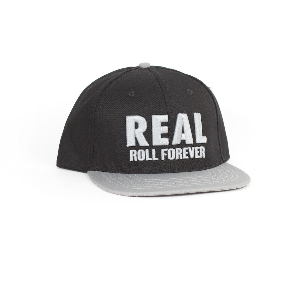 Roll Forever black/grey snapback cap - Stoked Boardshop
