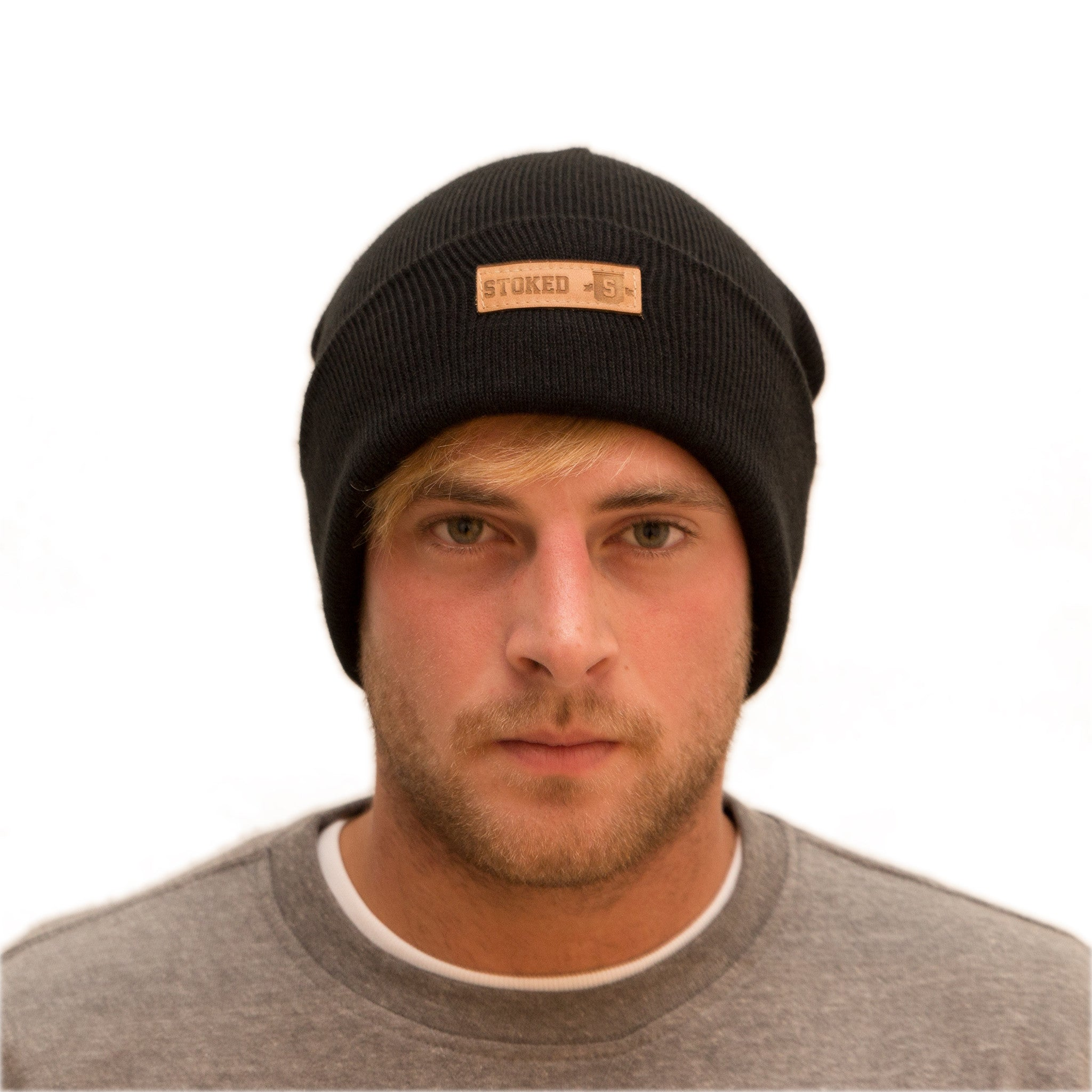 Classic Black beanie - Stoked Boardshop