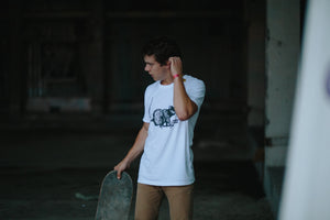 Skate rat Big white t-shirt - Stoked Boardshop  - 3