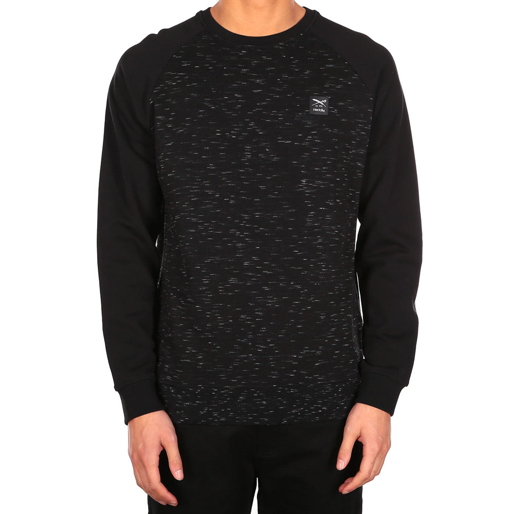 Injection Raglan Crew Black/melange