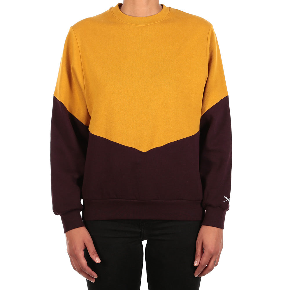 Womens Luv sweat gold aubergine