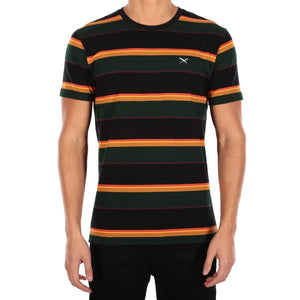 Rustico Stripe Tee Black Yellow