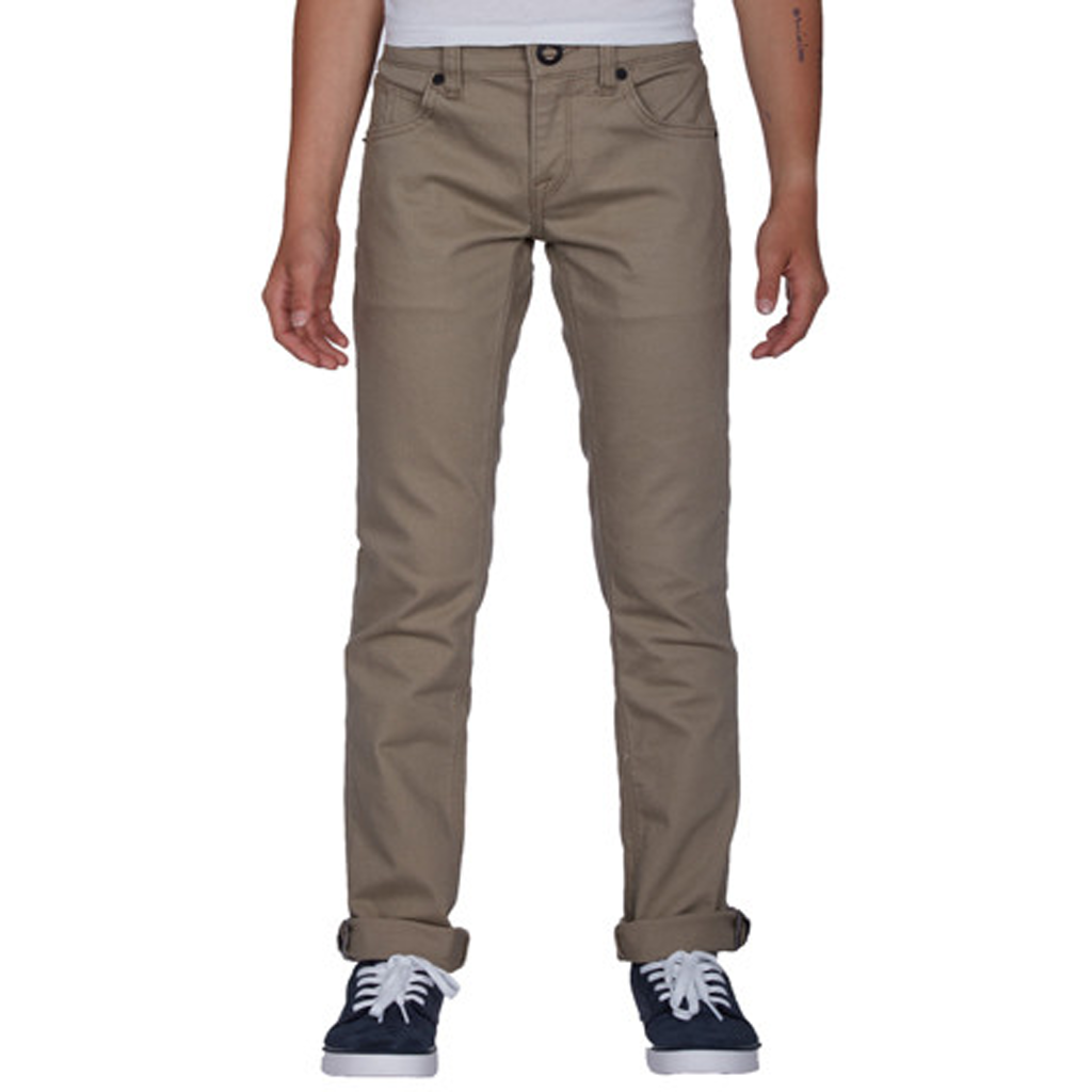 Kids 2x4 5 Pocket Twill Beige - Stoked Boardshop
