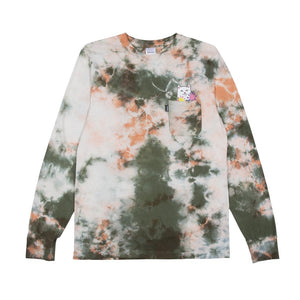 Flowers For BAE Longsleeve T-Shirt Green/Pink Acid Wash