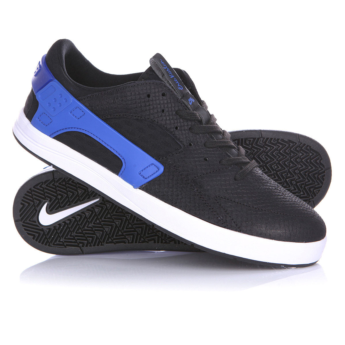 Eric Koston Huarache - Black/Black-Game Royal-White - Stoked Boardshop  - 4
