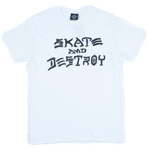 Skate and Destroy t-shirt white - Stoked Boardshop