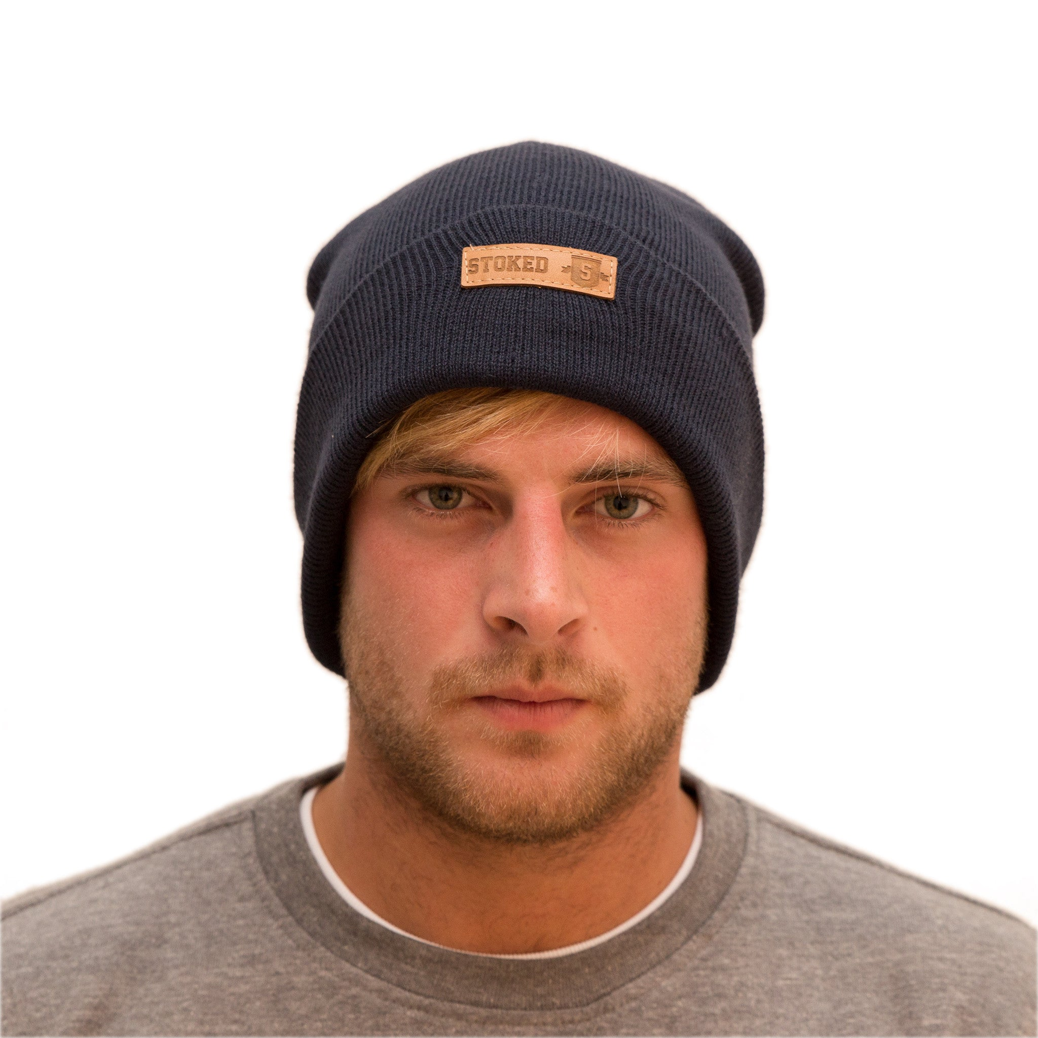 Classic Navy beanie - Stoked Boardshop