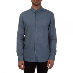 rush hour chambray long sleeve shirt black