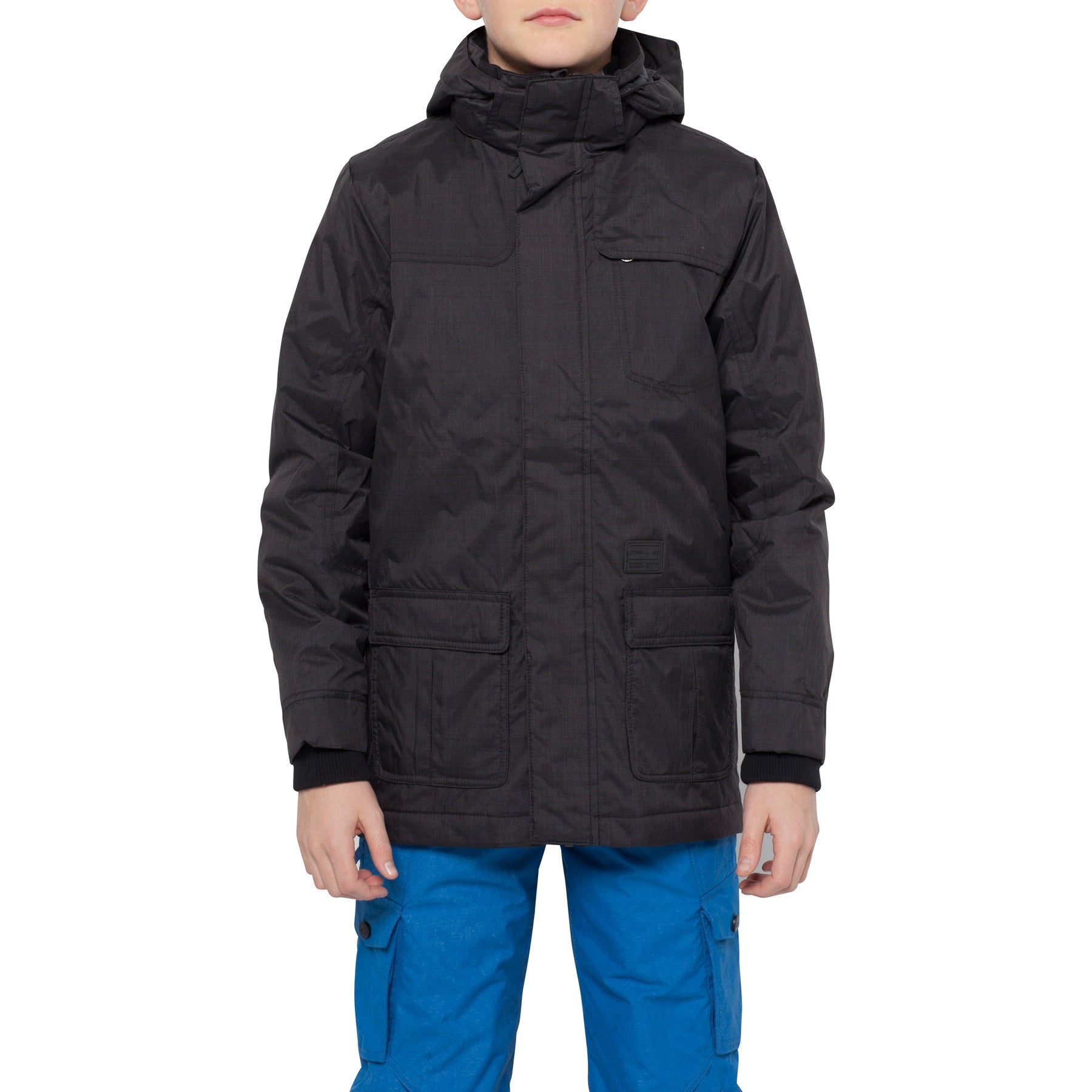Kids Rockaway jacket Black Out - Stoked Boardshop  - 4