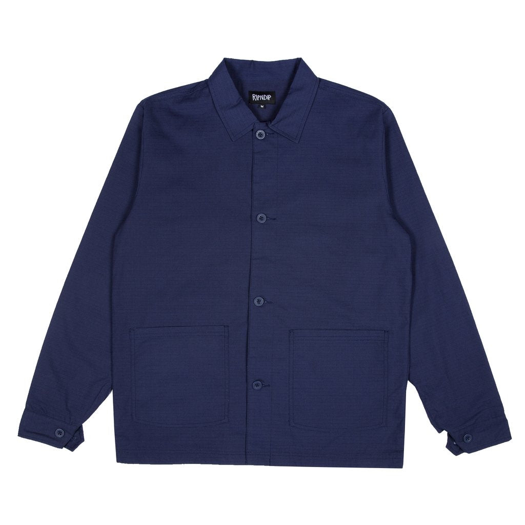 Great Wave Military Jacket Navy Blue