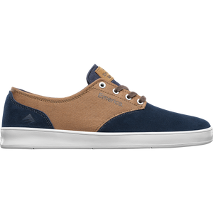 The Romero Laced Navy/Brown/White