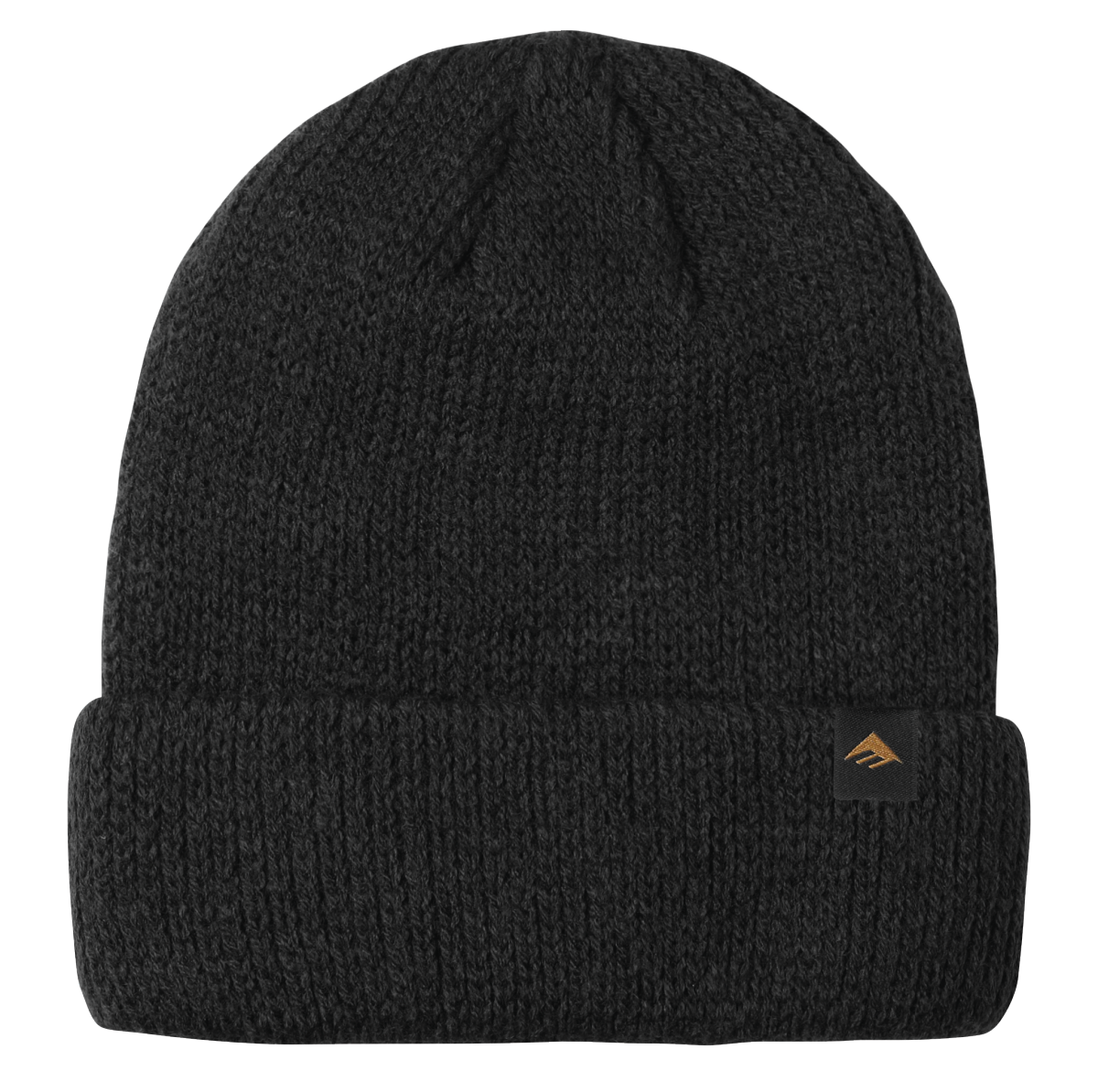 Triangle Cuff Beanie Black