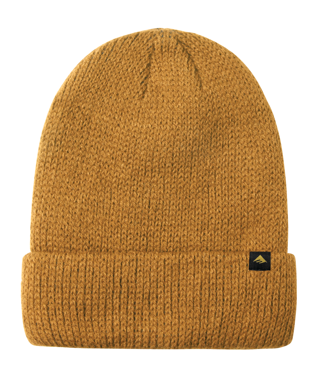 Triangle Cuff Beanie Gold