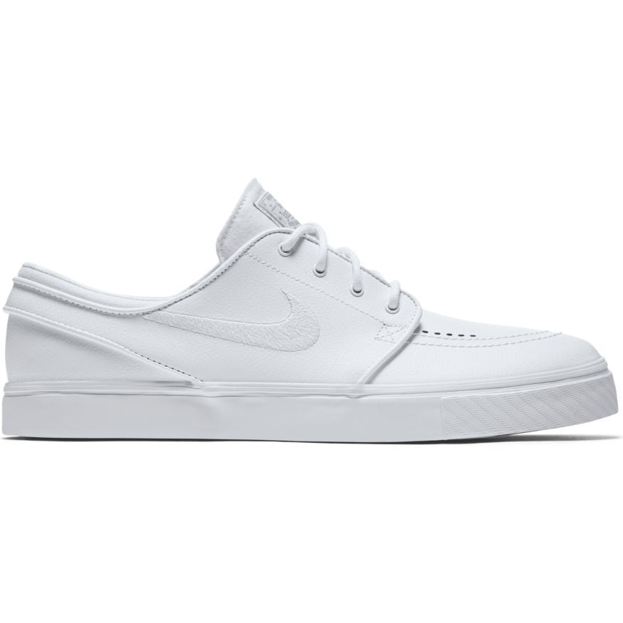 half off 45229 34cd1 Zoom Stefan Janoski Leather White White Wolf Grey