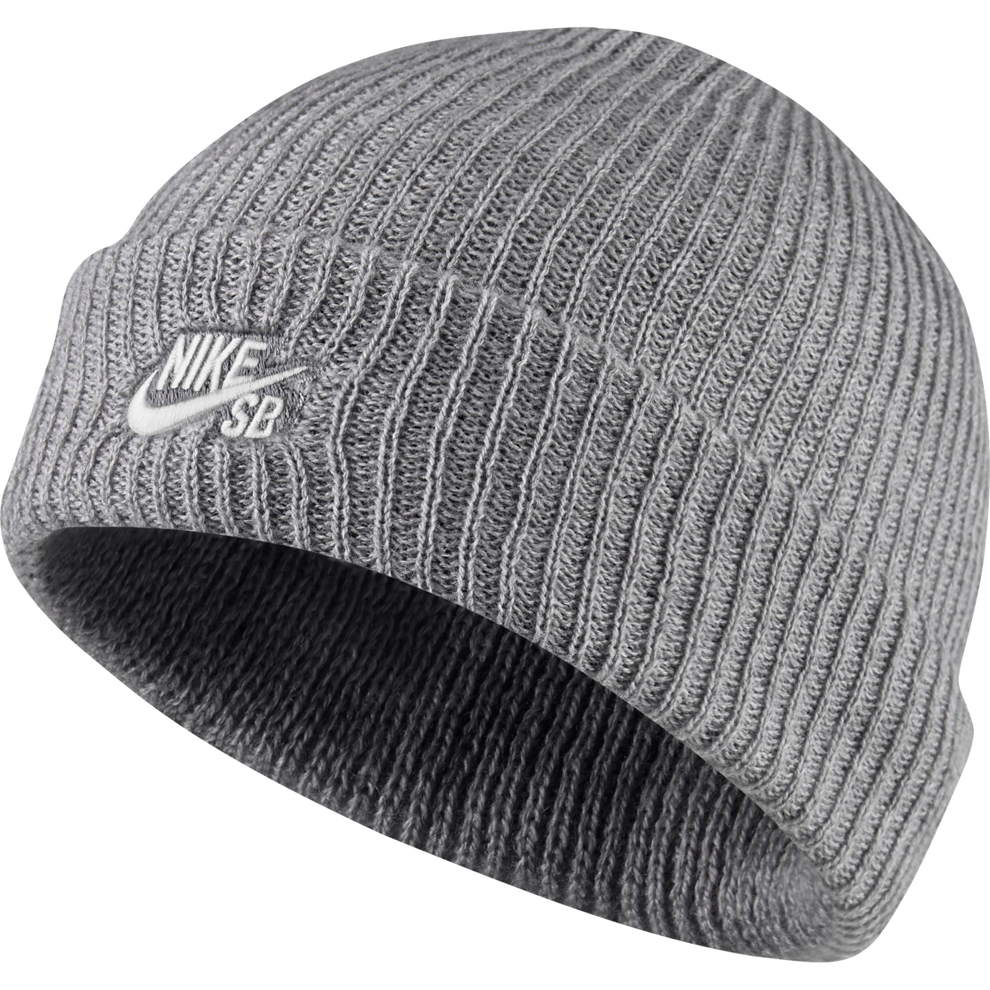 Fisherman Cap Dark Grey Heather/ White
