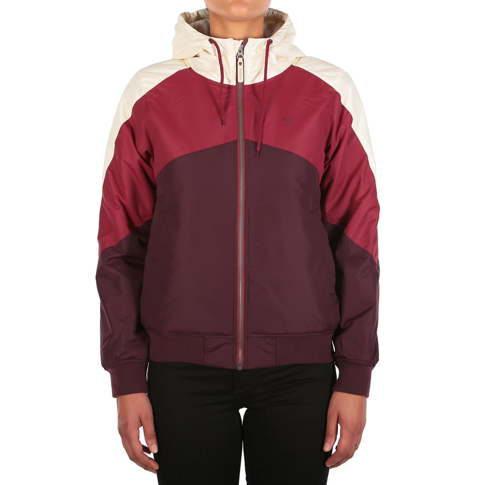 Womens Tri Colore Jacket Red Wine