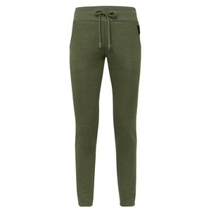 Womens Quilted Sweatpants Winter Moss