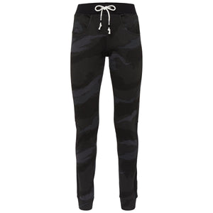 Womens Sophora All Over Print Camo Pants Black