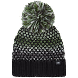 Womens Crescent Beanie Black Out