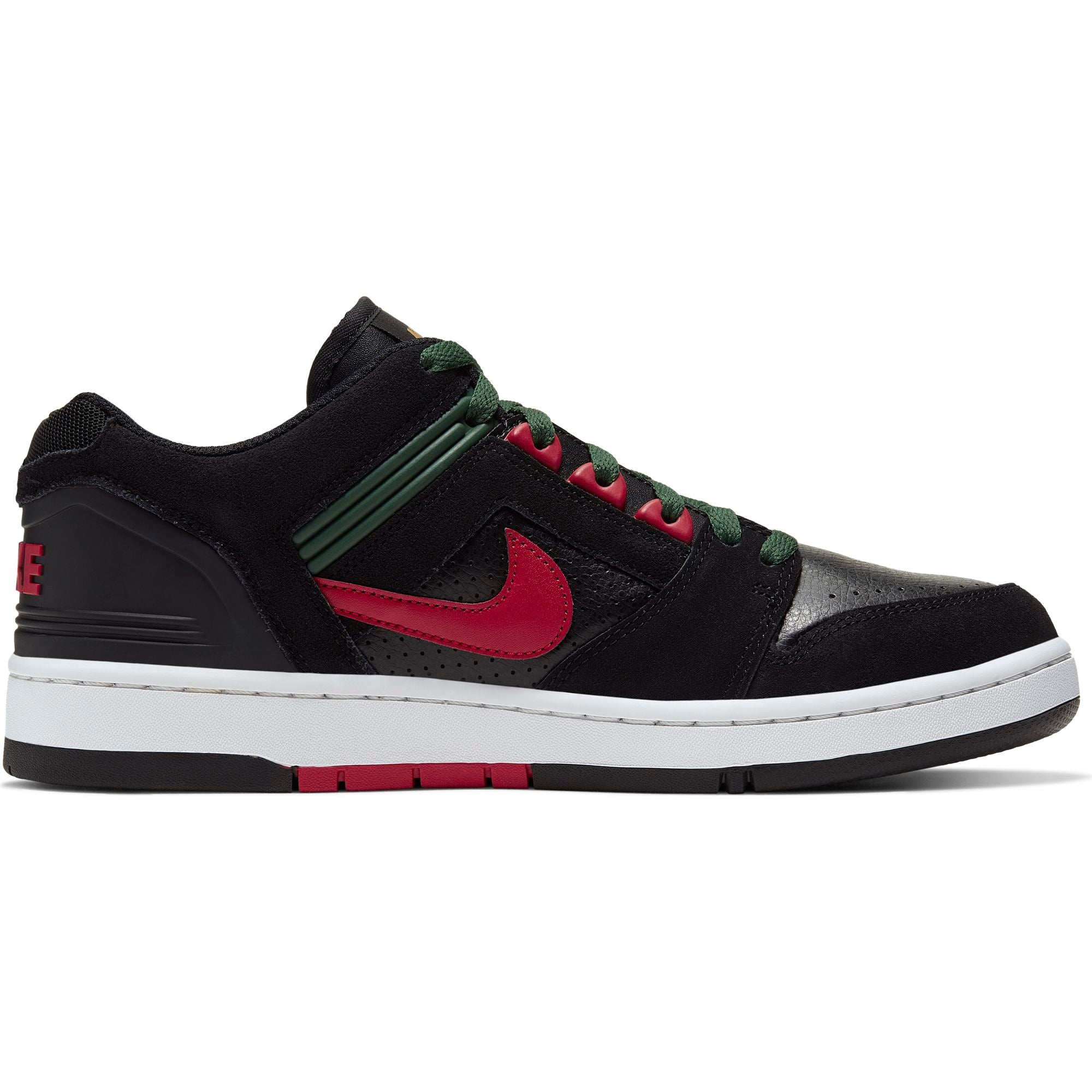 Air Force II Low Black/ Gym Red/ Deep Forest