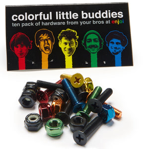 Colorful little buddies Anodized bolts phillips 7/8""