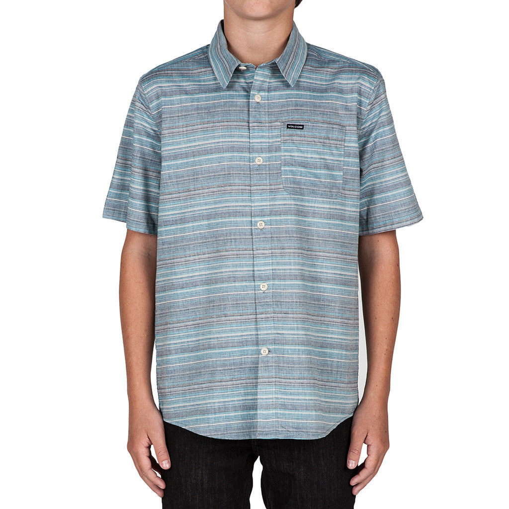 Kids Ledfield S/S Shirt Navy - Stoked Boardshop