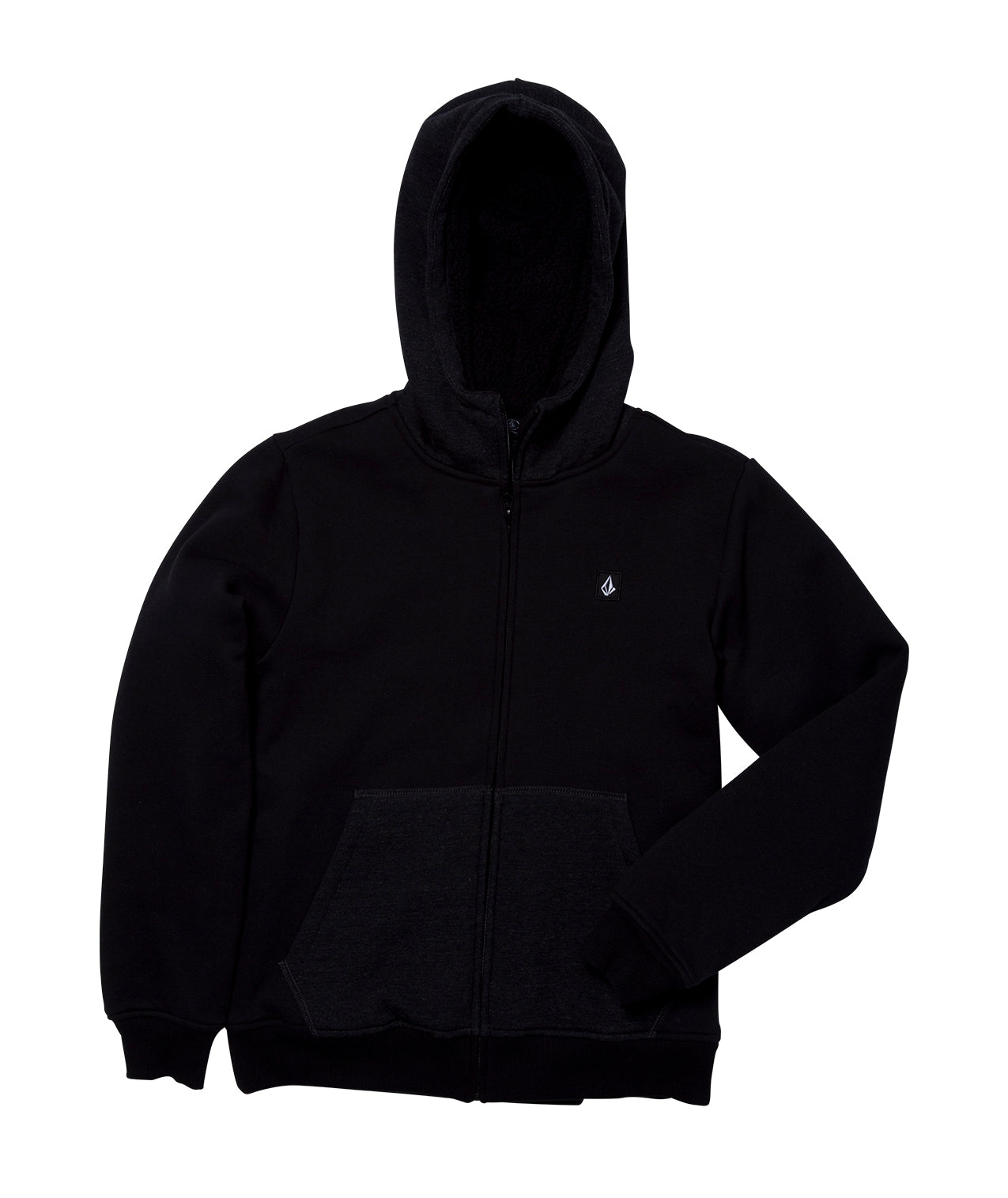 Youth Single Stoned Lined Hoodie Black