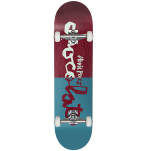 Perez Original chunk blue-red complete skateboard 7.625""