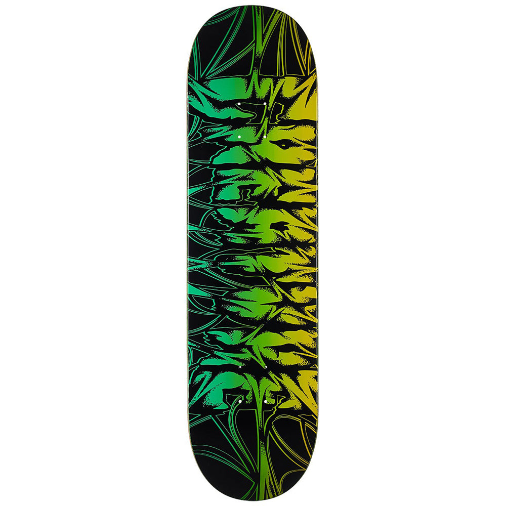 "Ligaments 2 Hard Rock Maple Black/Green 8.38"" Skateboard Deck"