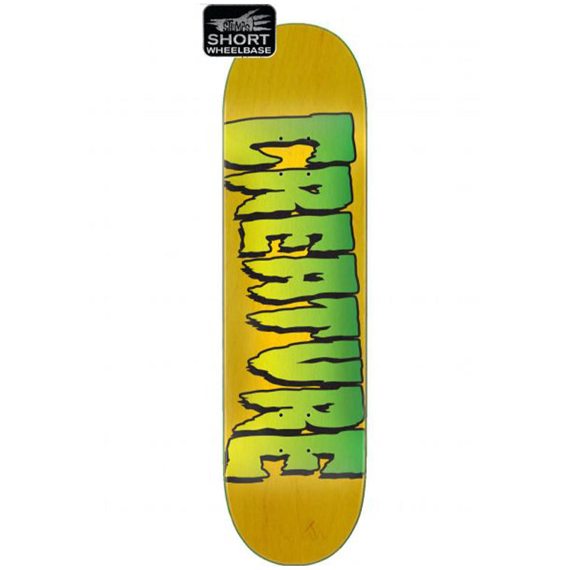 "Logo Stump Yellow 8.0"" Skateboard Deck"