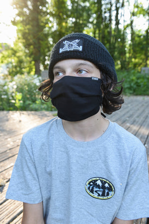 Stoked Facemask Black