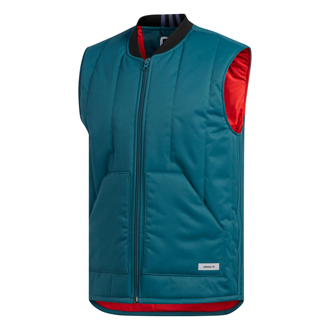 Workwear Bodywarmer Viridian/ Power Red/ Noble Indigo