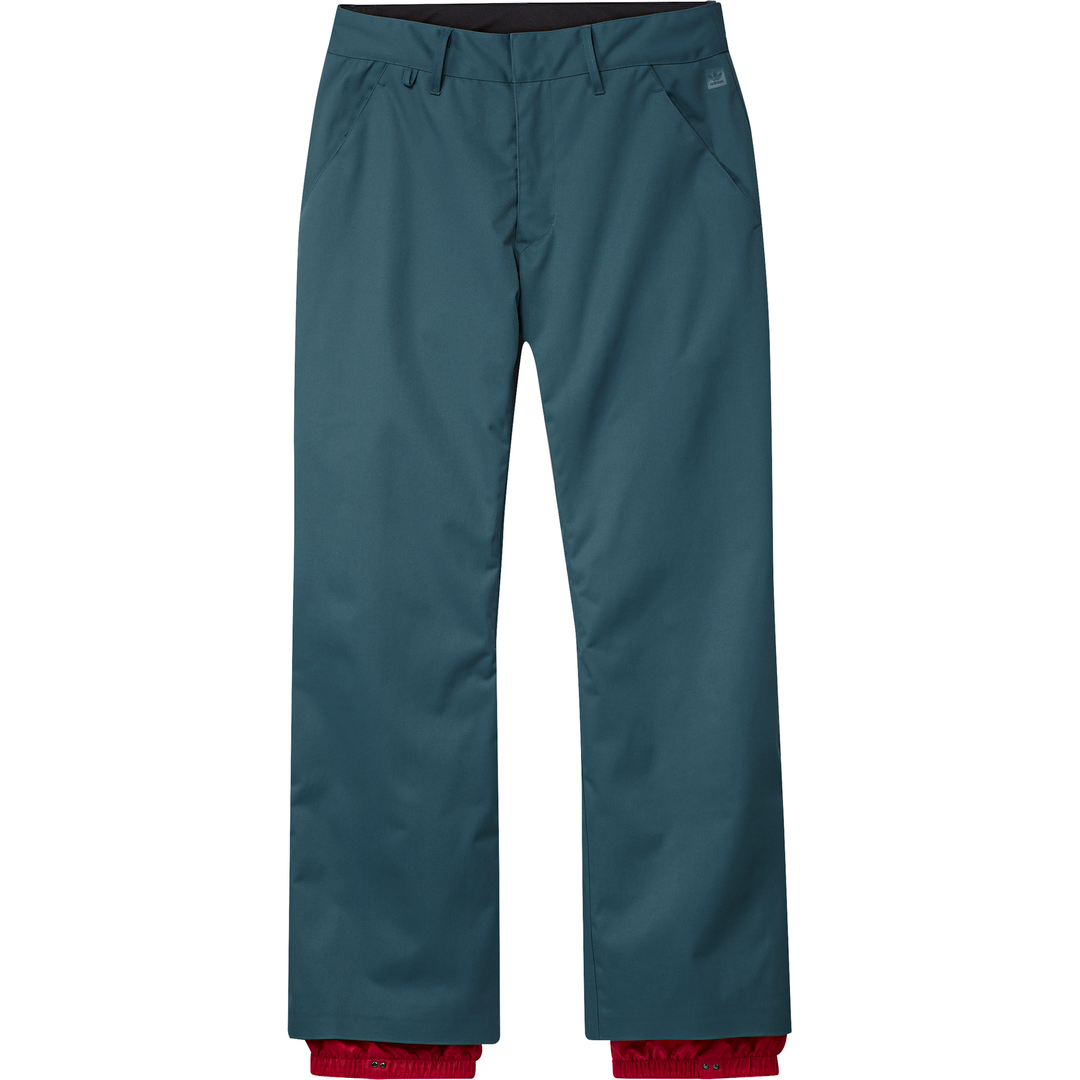 Snow Chino Pant Viridian/ Power Red