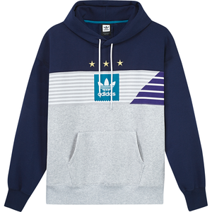 Elevated Tri Hoodie Collegiate Navy/ Pale Melange/ Active Teal/ Collegiate Purple