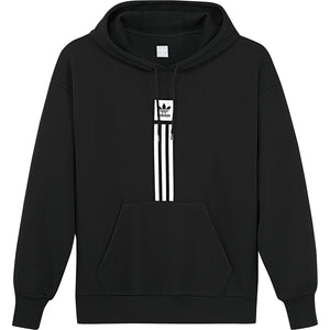 Solid Pillar HD Sweatshirt Black/ White