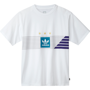 Campeonato T-shirt White/ Grey One/ Collegiate Purple/ Active Teal