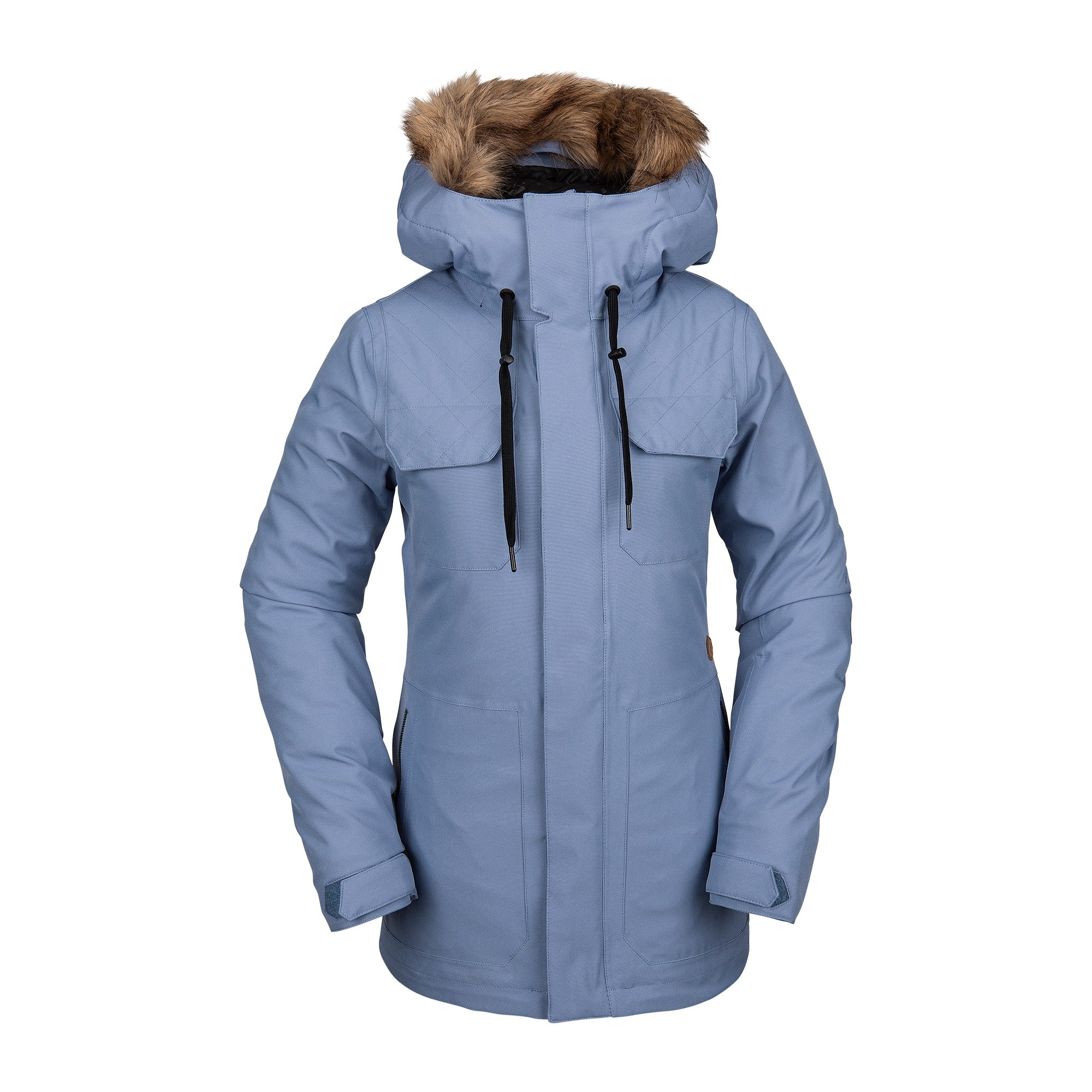 Womens Shadow Insulated Jacket Washed Blue