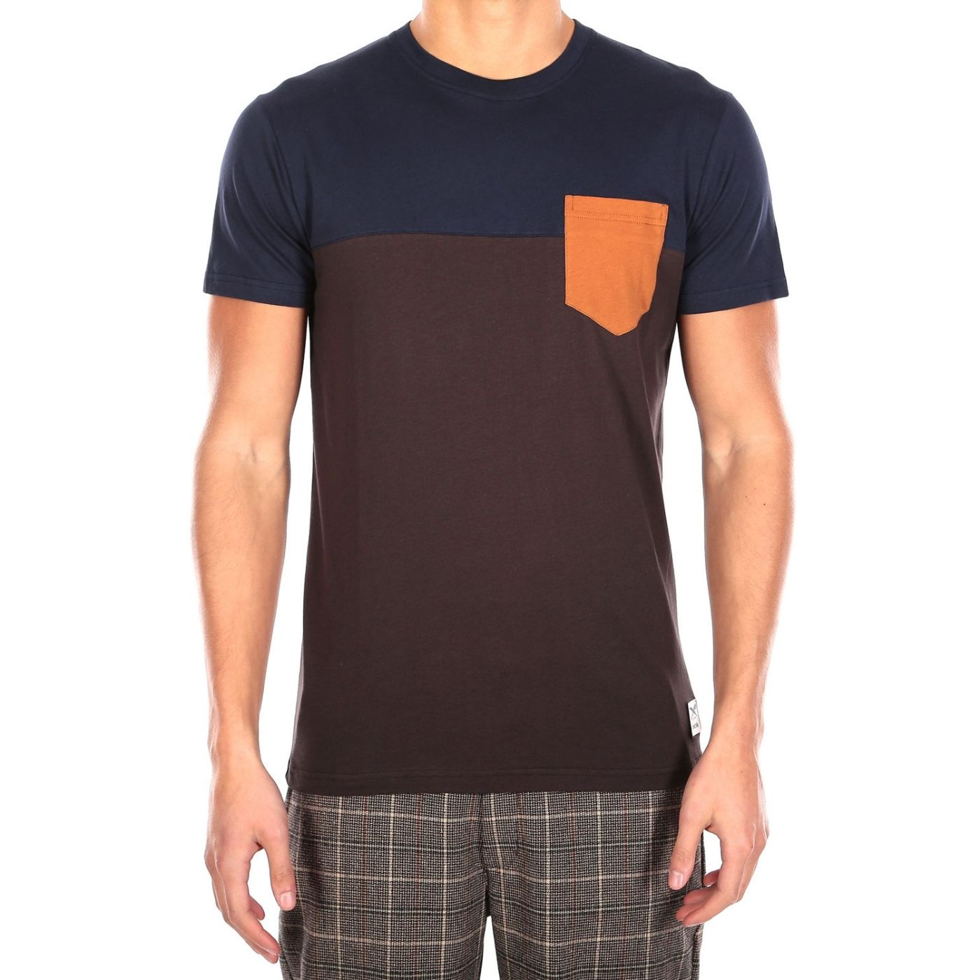 Block Pocket Tee Chocolate