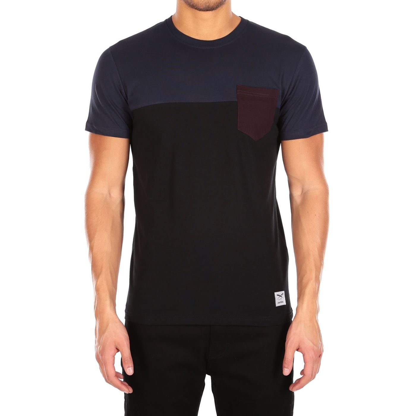 Block Pocket Tee Nightfall