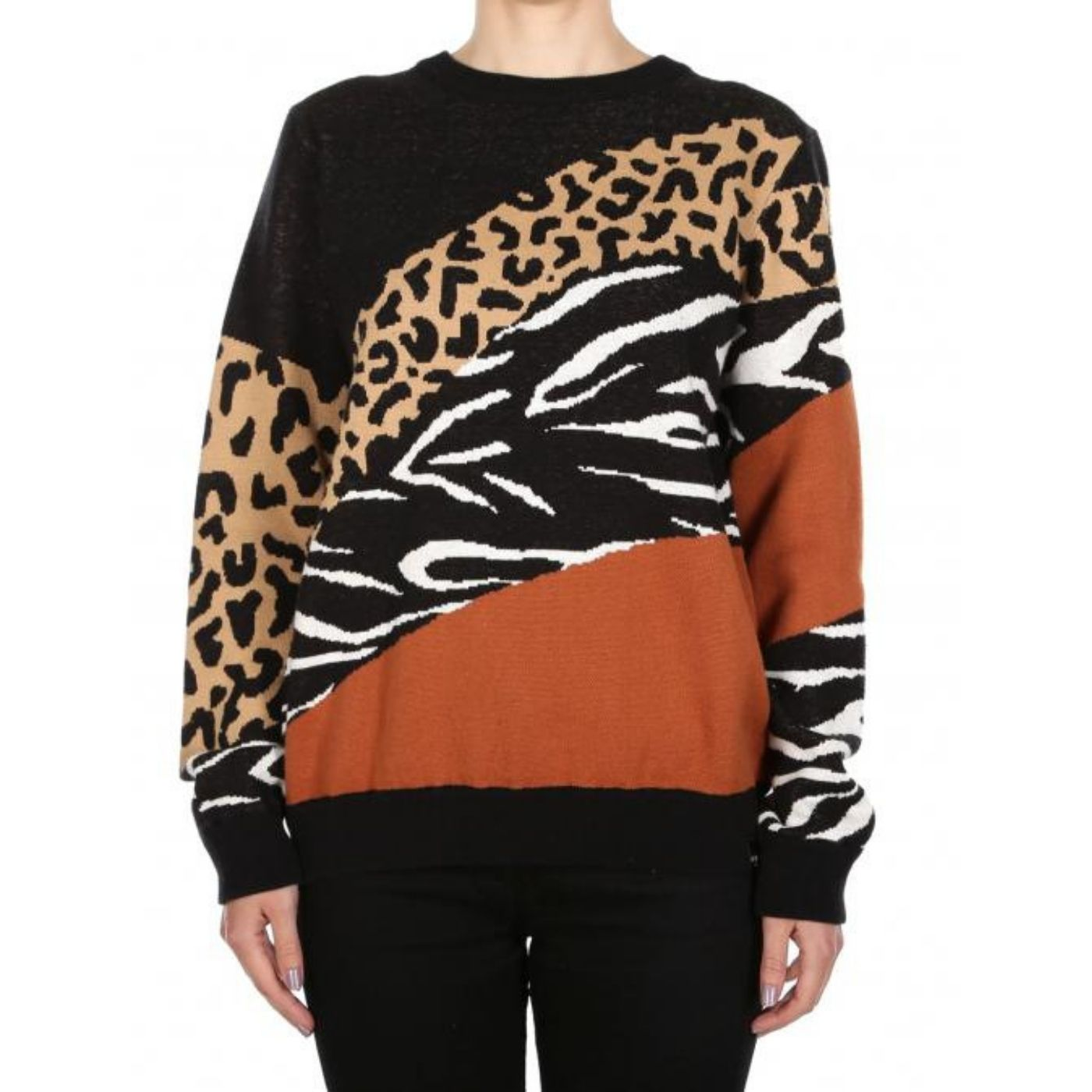 Womens Rudy Knit Leo Brown