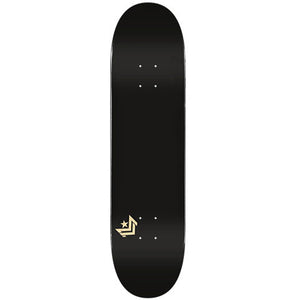 "Chevron Shape 127 Metallic Black 8.25"" Skateboard Deck"