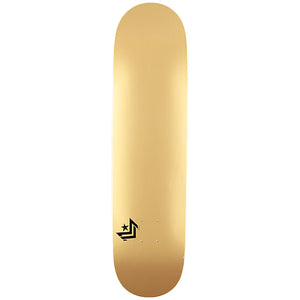 "Chevron Shape 127 Metallic Gold 8.0"" Skateboard Deck"